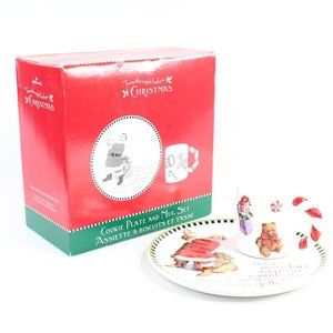 Hallmark Santa Claus Cookie Plate And Mug Set